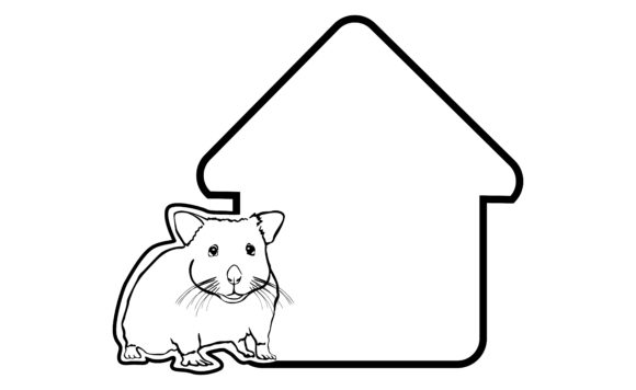 Download Free Greeting Cards Theme Hamster Line Art Graphic By Arief Sapta for Cricut Explore, Silhouette and other cutting machines.