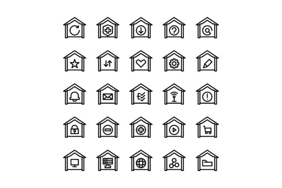 Download Free Homes Graphic By Glyph Faisalovers Creative Fabrica for Cricut Explore, Silhouette and other cutting machines.