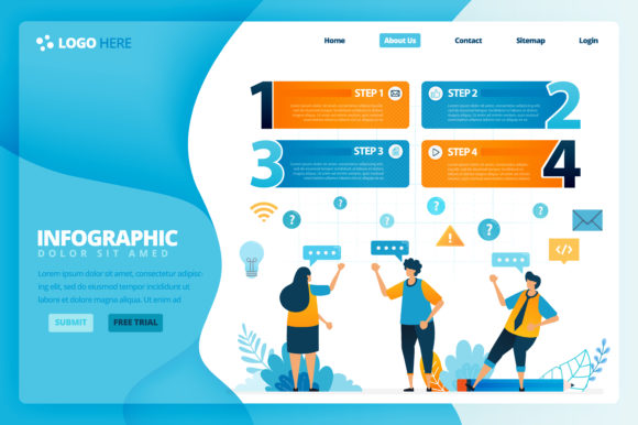 Infographic Design For Steps In Learning Graphic By Setiawanarief111 Creative Fabrica