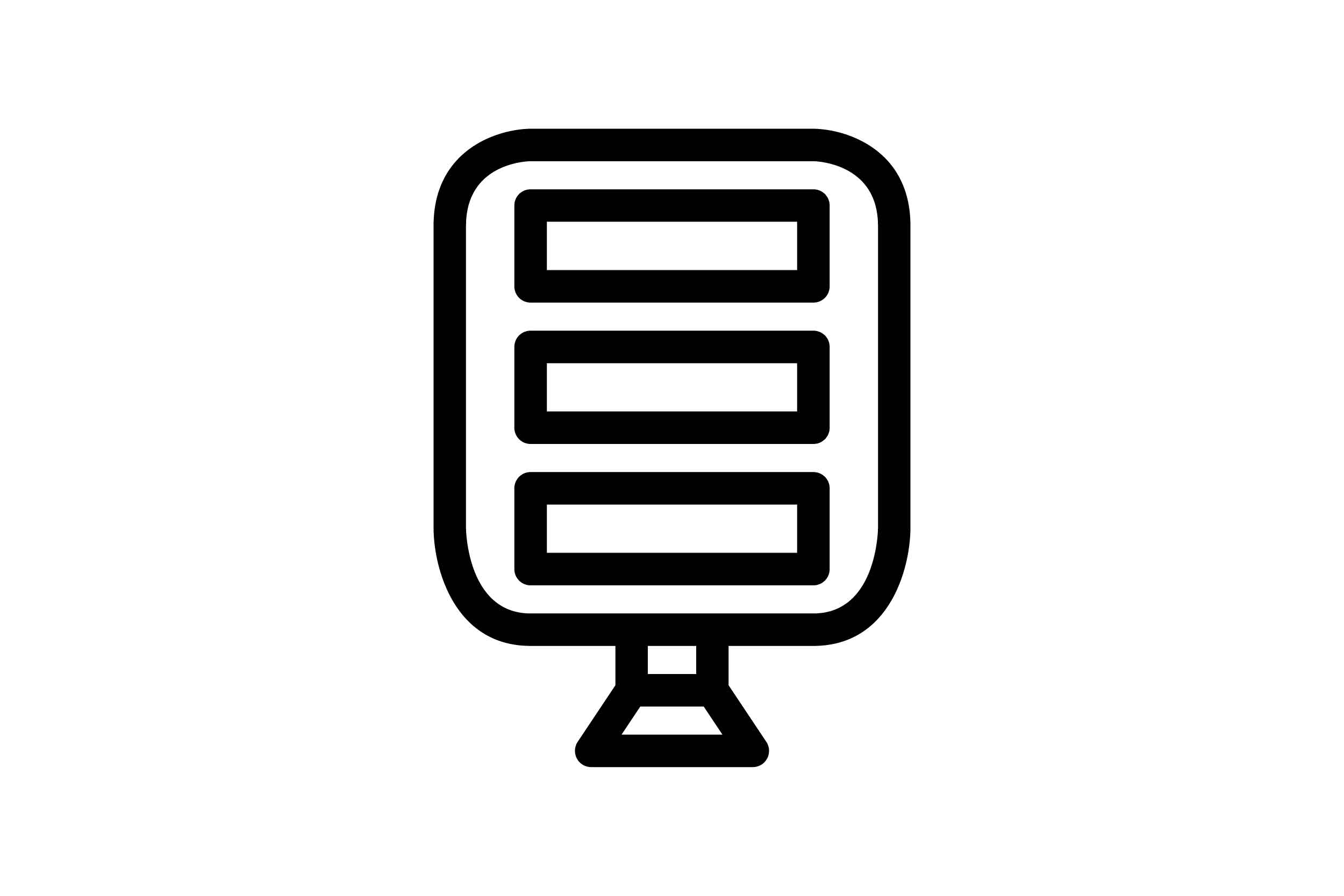 Download Free Microphone Black And White Line Icon Graphic By Glyph for Cricut Explore, Silhouette and other cutting machines.