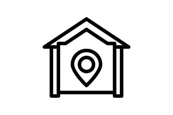 Download Free Navigation Black And White Line Icon Graphic By Glyph for Cricut Explore, Silhouette and other cutting machines.