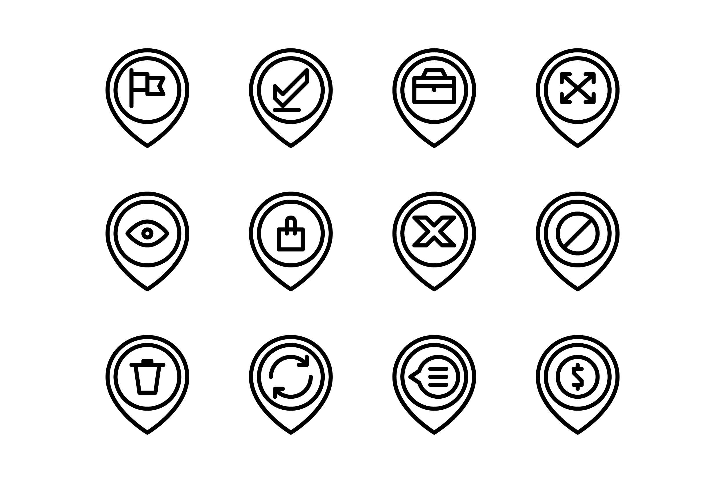 Download Free Position Black And White Line Icon Graphic By Glyph Faisalovers Creative Fabrica for Cricut Explore, Silhouette and other cutting machines.