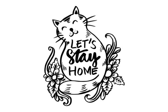 Qoute Stay Home Graphic Graphic Templates By han.dhini