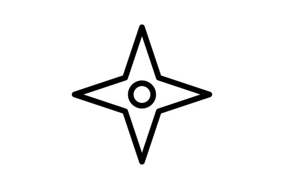 Shuriken Black and White Line Icon Graphic Icons By glyph.faisalovers