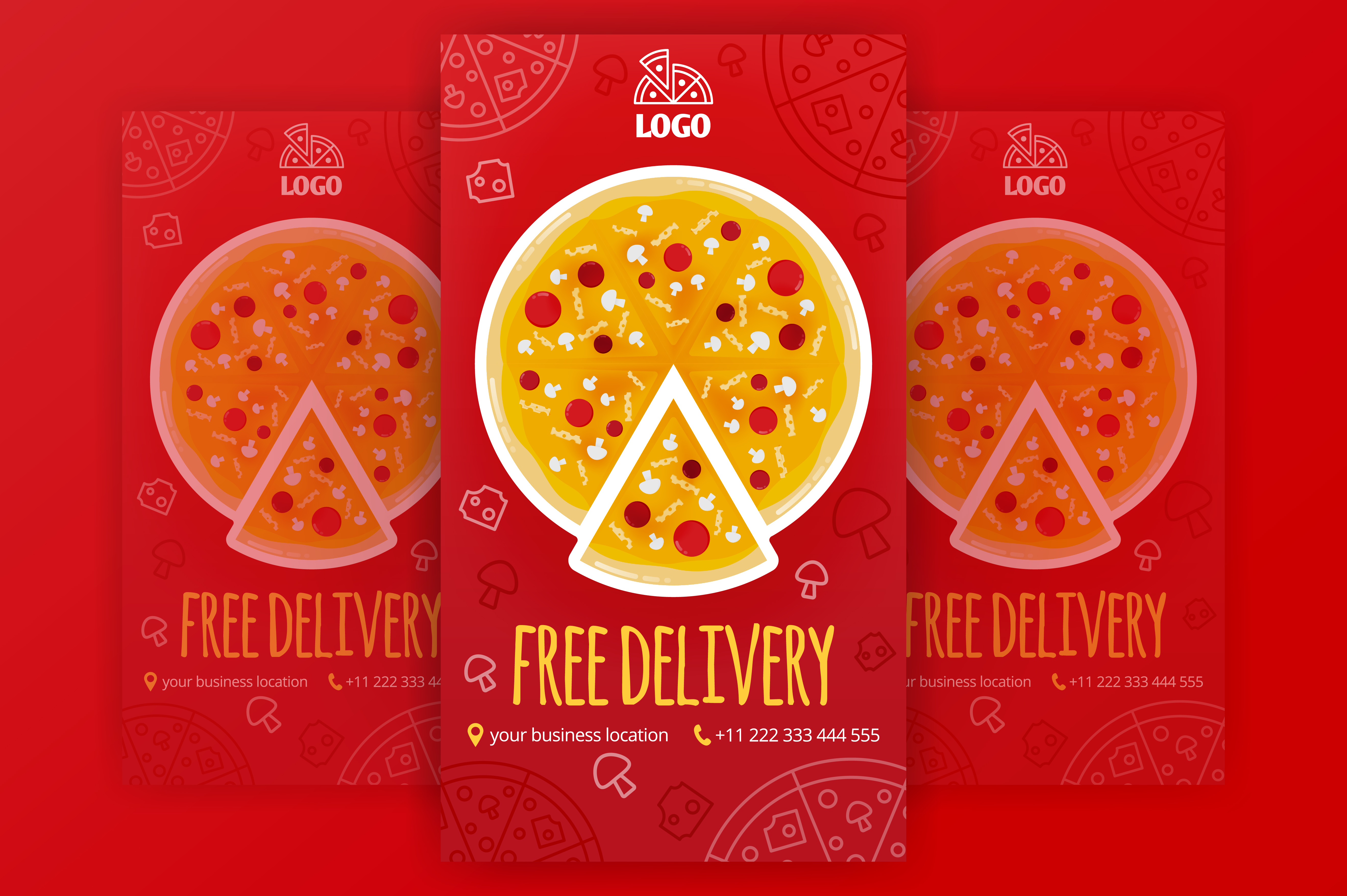 Download Free Social Media Stories For Pizza Delivery Graphic By for Cricut Explore, Silhouette and other cutting machines.
