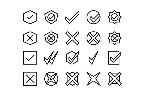 Download Free Status Black And White Line Icon Graphic By Glyph Faisalovers for Cricut Explore, Silhouette and other cutting machines.