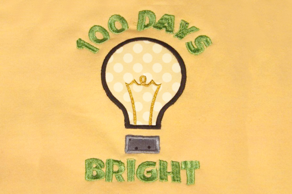 Download Free 100 Days Bright Applique Creative Fabrica for Cricut Explore, Silhouette and other cutting machines.