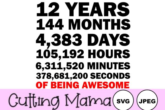 Download Free 19 Years Of Being Awesome Graphic By Cutting Mama Creative Fabrica for Cricut Explore, Silhouette and other cutting machines.