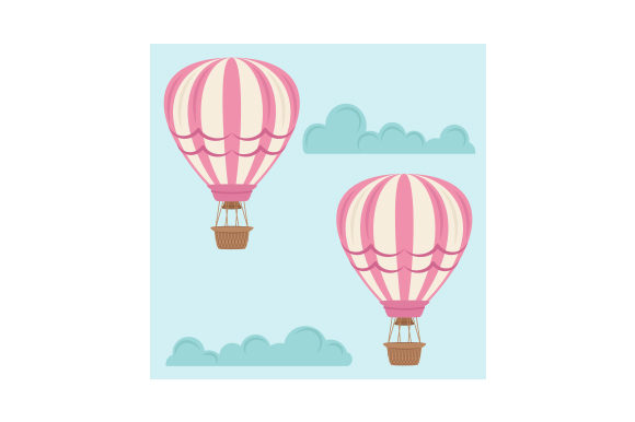 Download Free Hot Air Balloon Background Paper Svg Cut File By Creative for Cricut Explore, Silhouette and other cutting machines.