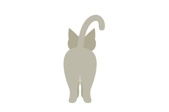 Download Free Cat Butt Svg Cut File By Creative Fabrica Crafts Creative Fabrica for Cricut Explore, Silhouette and other cutting machines.