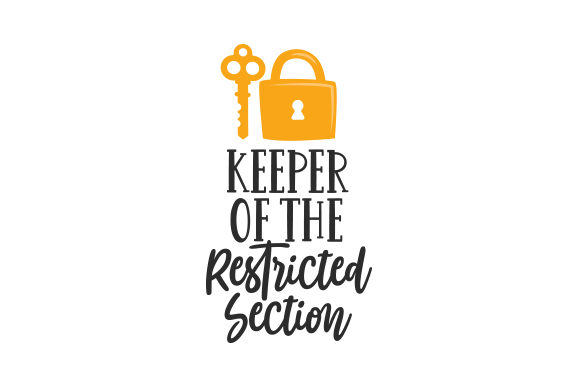 Download Free Keeper Of The Restricted Section Svg Cut File By Creative for Cricut Explore, Silhouette and other cutting machines.