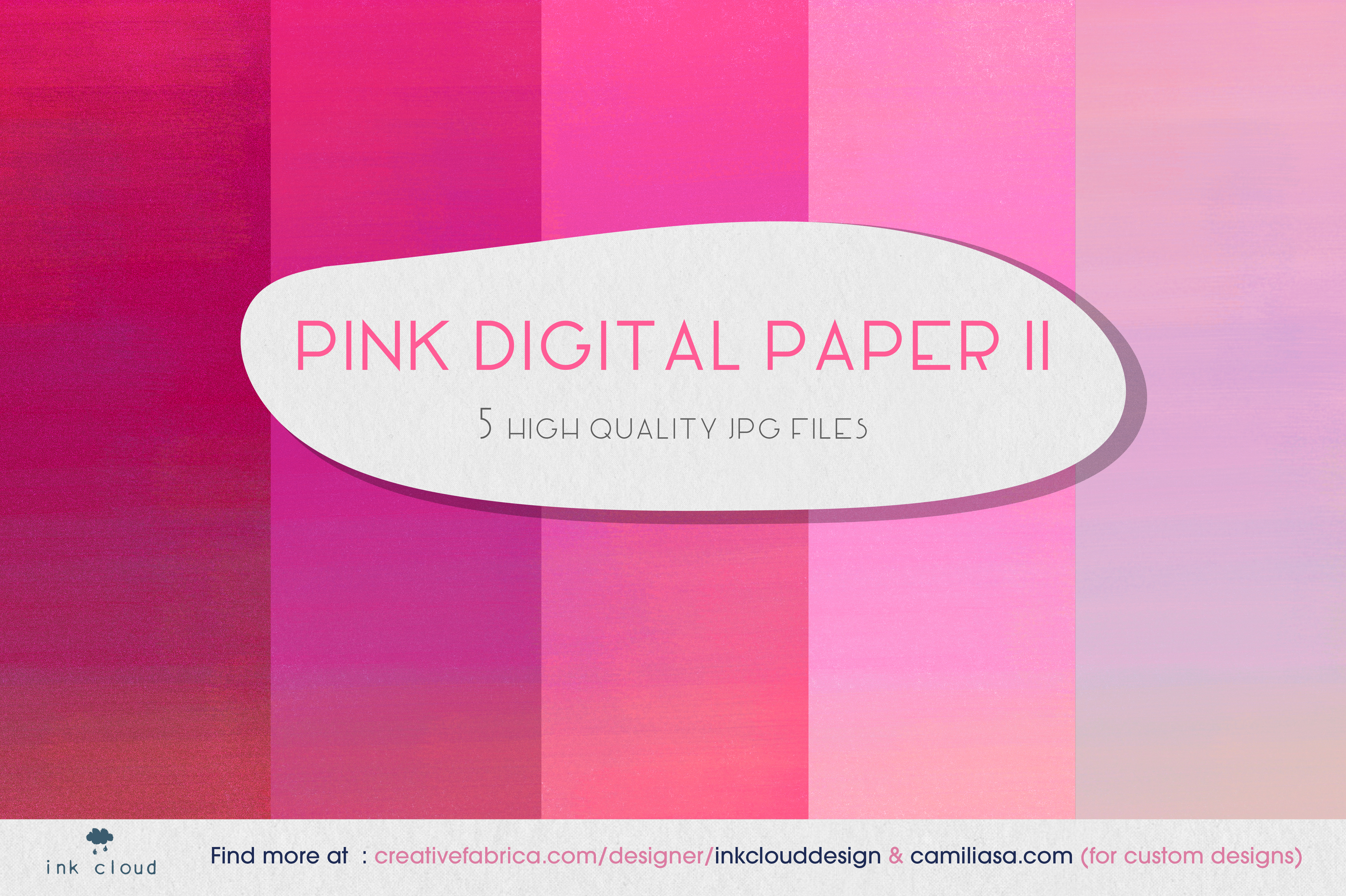5 Pink Digital Paper Background Patterns Graphic By Inkclouddesign Creative Fabrica