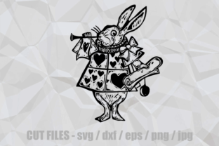 Download Free Alice In Wonderland Rabbit Cut File Graphic By Prawny Creative for Cricut Explore, Silhouette and other cutting machines.