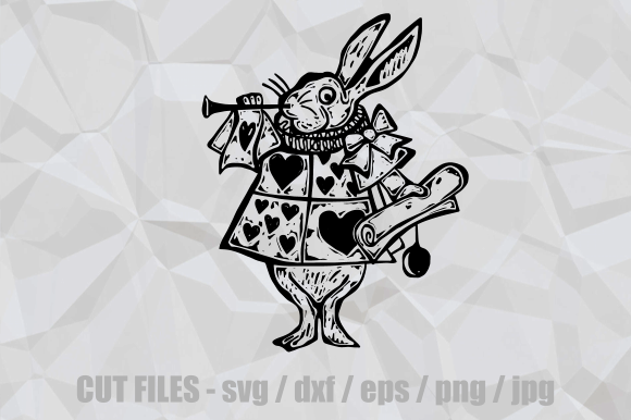 Print on Demand: Alice in Wonderland Rabbit Cut File Graphic Crafts By Prawny