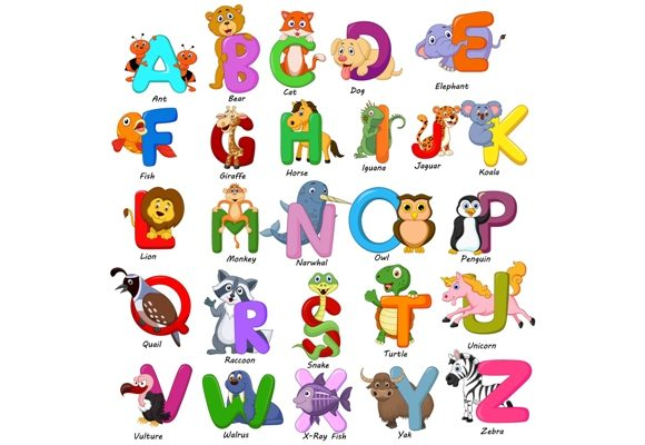 Animals Alphabet Clip Art Set Graphic Graphic Illustrations By tigatelusiji