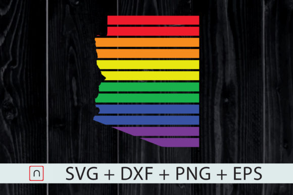 Download Free Arizona State Map Rainbow Lgbt Pride Graphic By Novalia for Cricut Explore, Silhouette and other cutting machines.