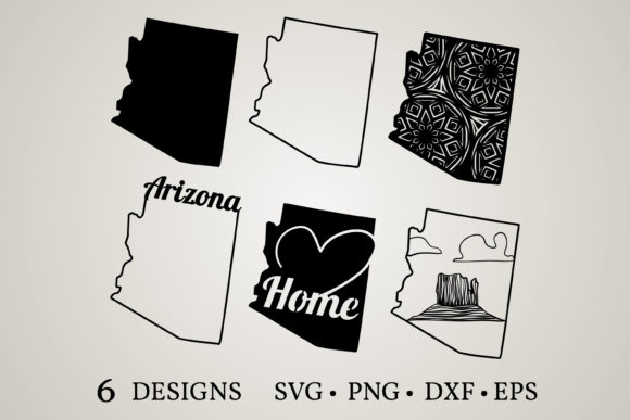 Download Free Arizona State Graphic By Euphoria Design Creative Fabrica for Cricut Explore, Silhouette and other cutting machines.