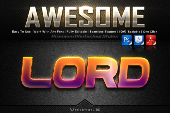 Awesome Photoshop Text Effects Graphic Add-ons By MualanaDesign