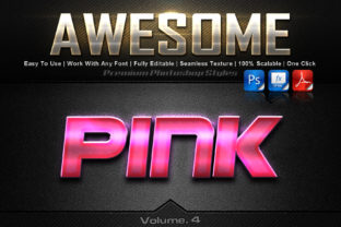 Awesome Photoshop Text Effects Gráfico Add-ons Por MualanaDesign