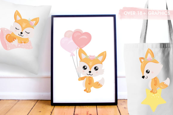 Baby Girl Fox Graphic Preview