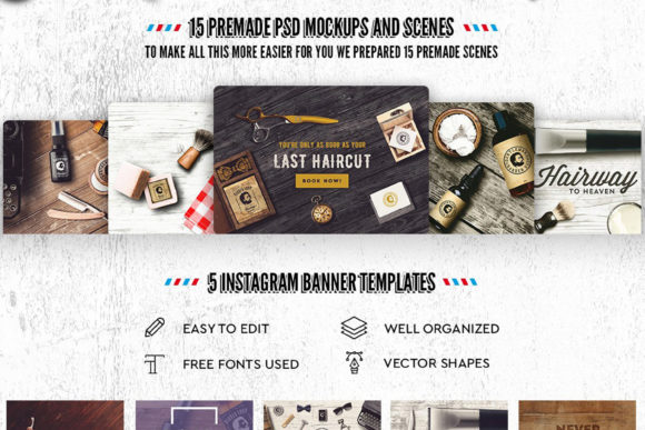 Download Free Barber Shop Mockup Generator Graphic By Relineo Creative Fabrica SVG Cut Files
