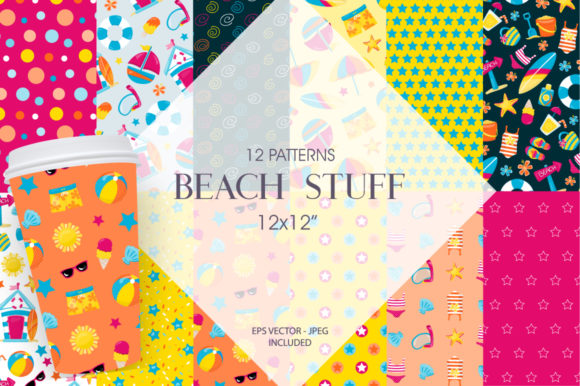Print on Demand: Beach Stuff Graphic Patterns By Prettygrafik