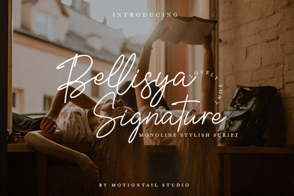 Download Free Bellisya Signature Font By Motiontailstudio Creative Fabrica for Cricut Explore, Silhouette and other cutting machines.