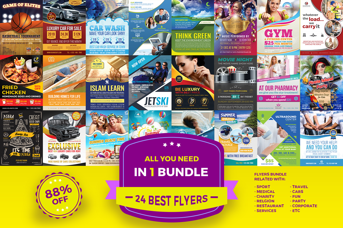 Download Free Best Flyers Bundle Bundle Creative Fabrica for Cricut Explore, Silhouette and other cutting machines.