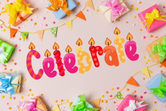 Download Free Birthday Wishes Duo Font By Illustration Ink Creative Fabrica for Cricut Explore, Silhouette and other cutting machines.