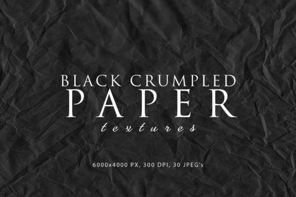 Print on Demand: Black Crumpled Paper Textures Graphic Abstract By ArtistMef