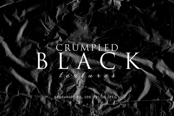 Print on Demand: Black Crumpled Textures Graphic Abstract By ArtistMef