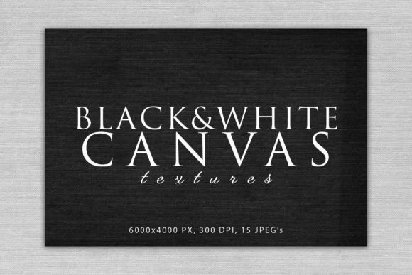 Print on Demand: Black and White Canvas Textures Gráfico Abstracto Por ArtistMef