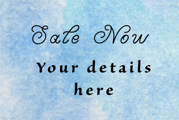 Print on Demand: Blue Watercolor Backgrounds Graphic Backgrounds By A Design in Time - Image 3