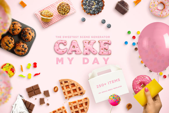 Cake My Day! the Sweetest Scene Gen. Graphic Scene Generators By Relineo