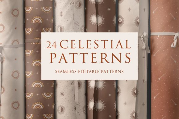 Celestial Magic Seamless Patterns Graphic Patterns By Alisovna