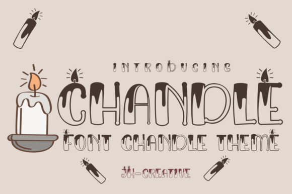 Print on Demand: Chandle Display Font By jehansyah251