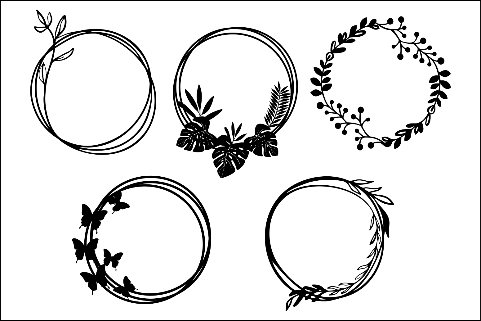 Download Free Circle Frames Cut File Graphic By Bn3300877 Creative Fabrica for Cricut Explore, Silhouette and other cutting machines.