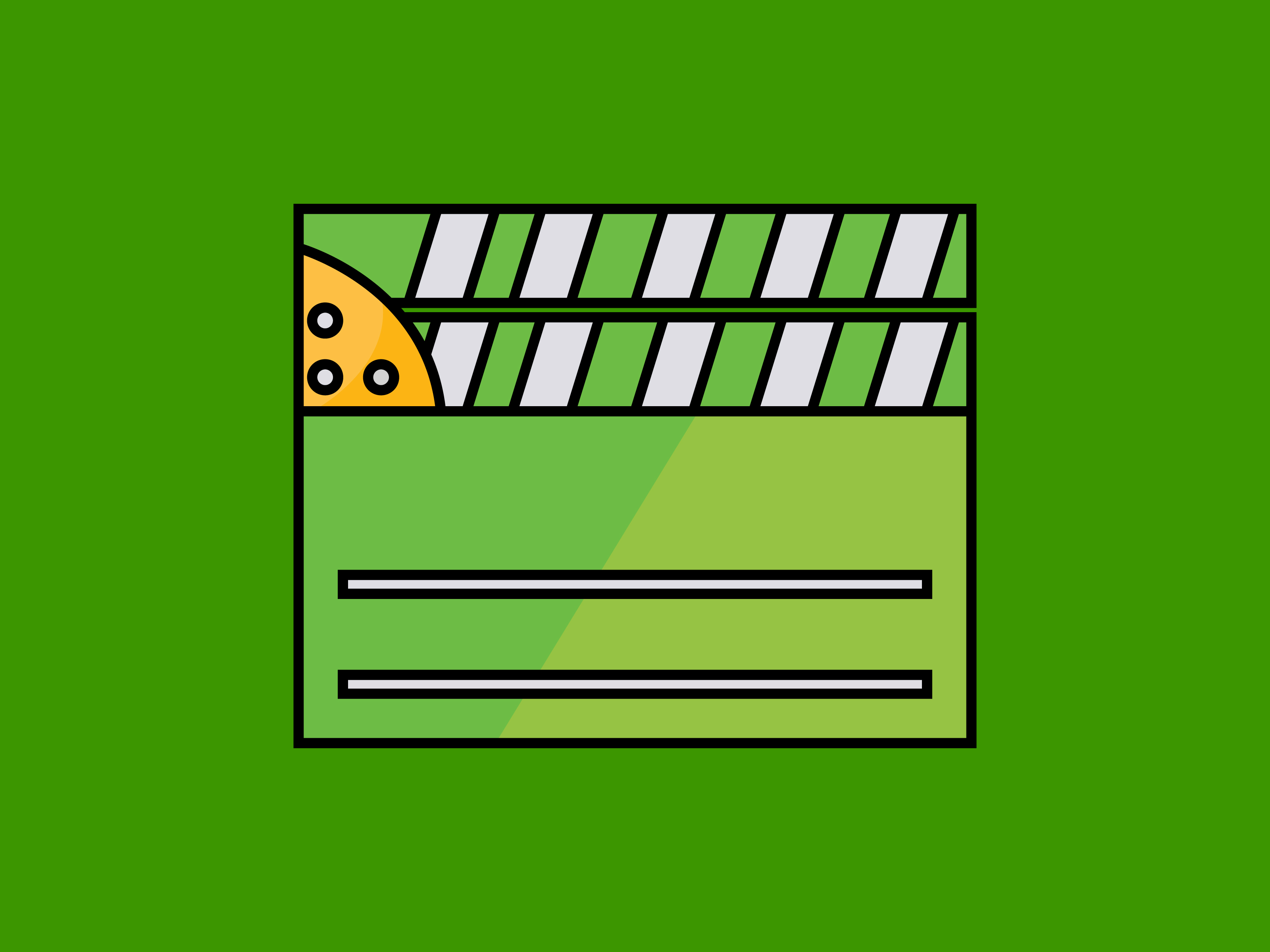 Download Free Clapper Movie Icon Full Color Line Graphic By Meandmydate for Cricut Explore, Silhouette and other cutting machines.