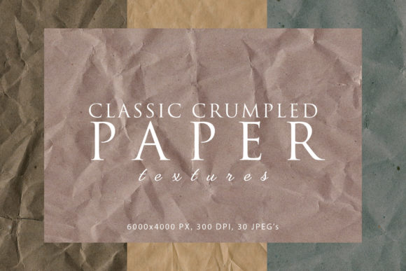 Print on Demand: Classic Crumpled Paper Textures Graphic Abstract By ArtistMef