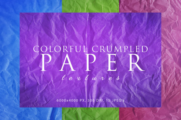 Print on Demand: Colorful Crumpled Paper Textures Graphic Abstract By ArtistMef