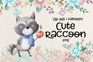 Cute Raccoon Graphic Illustrations By nicjulia