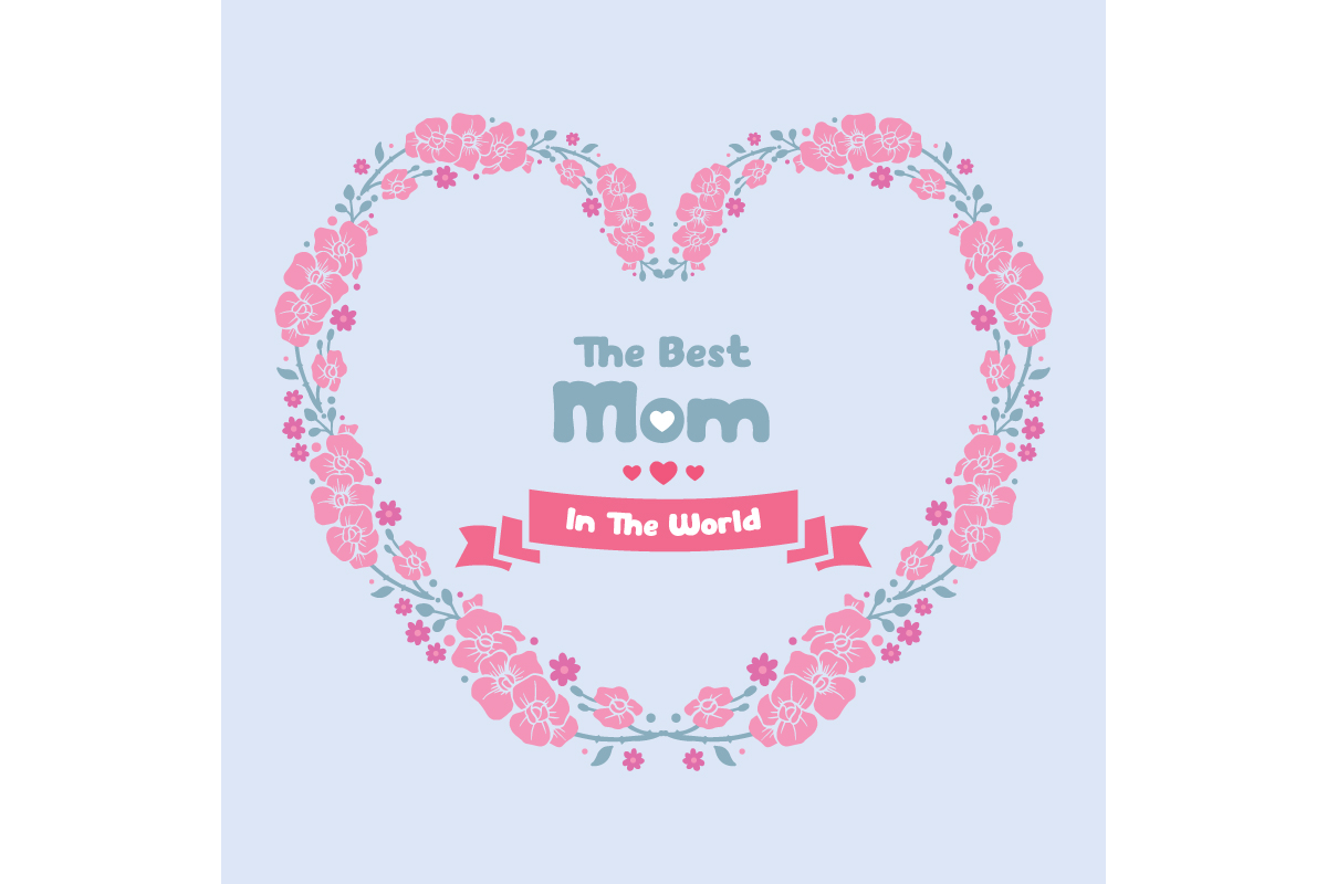Download Free Cute Card Design Best Mom In The World Graphic By Stockfloral for Cricut Explore, Silhouette and other cutting machines.