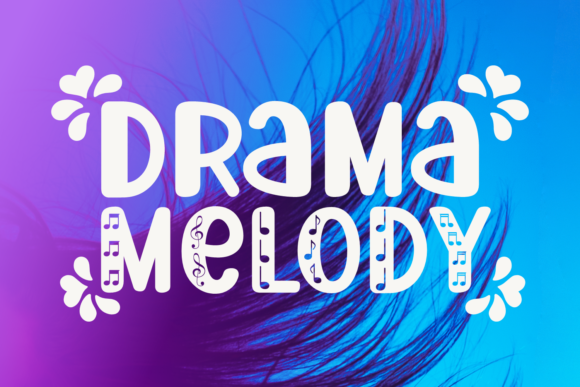 Print on Demand: Drama Melody Display Font By Jasm (7NTypes)
