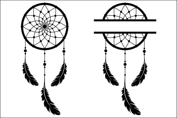 Download Free Dream Catcher Cut File Graphic By Bn3300877 Creative Fabrica for Cricut Explore, Silhouette and other cutting machines.