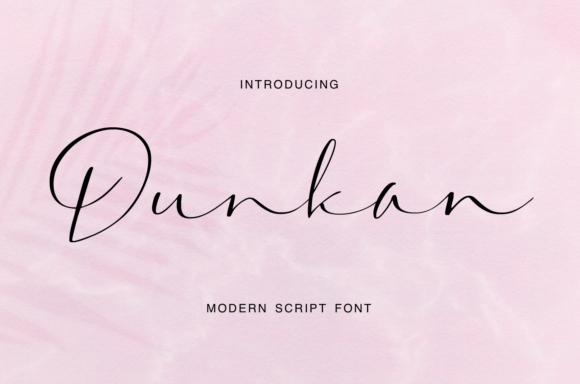 Print on Demand: Dunkan Script & Handwritten Font By it_was_a_good_day