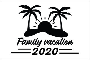 Print on Demand: Family Vacation Graphic Crafts By FauzIDEAStudio