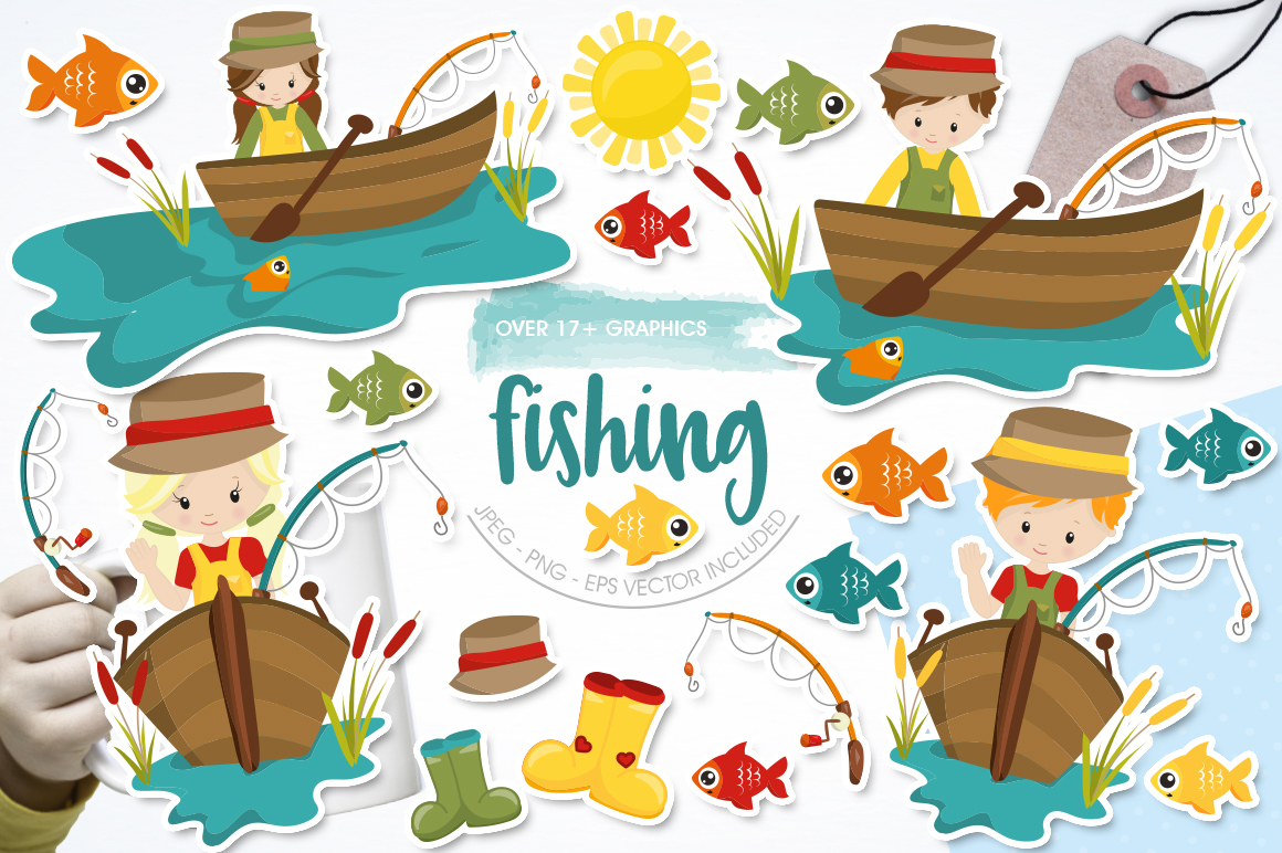 Download Free Fishing Graphic By Prettygrafik Creative Fabrica for Cricut Explore, Silhouette and other cutting machines.