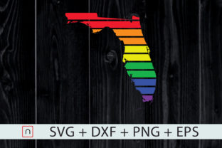 Download Free Florida State Map Rainbow Lgbt Pride Graphic By Novalia for Cricut Explore, Silhouette and other cutting machines.
