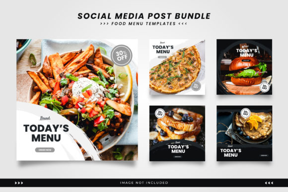 Download Free Food Social Media Post Template Graphic By Trigggerhand SVG Cut Files