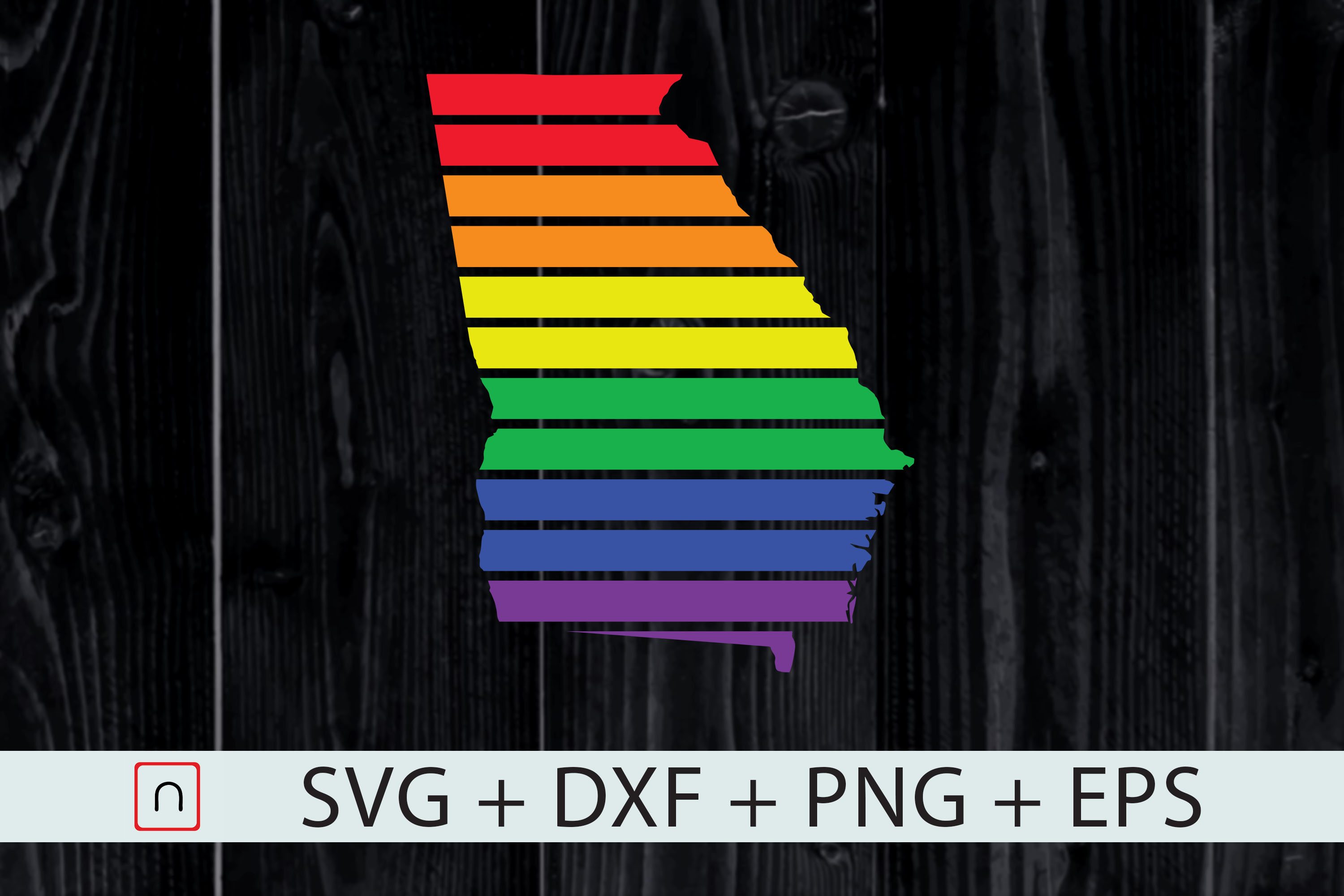 Download Free Georgia State Map Rainbow Lgbt Pride Graphic By Novalia for Cricut Explore, Silhouette and other cutting machines.